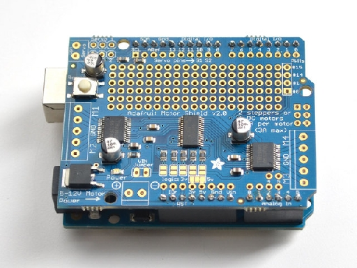 Arduino meccanismo complesso for Adafruit motor shield arduino