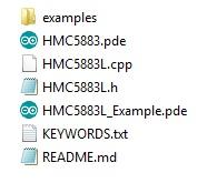 HMC5883L files library
