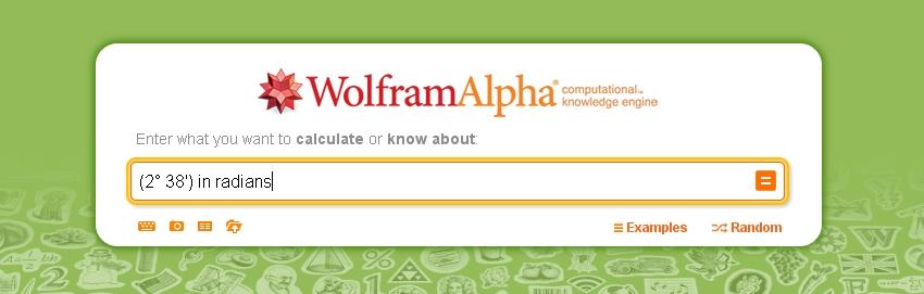 Wolframalpha radians