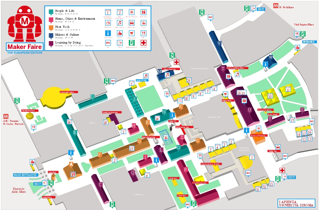 Meccanismo Complesso - Maker Faire La Sapienza Mappa