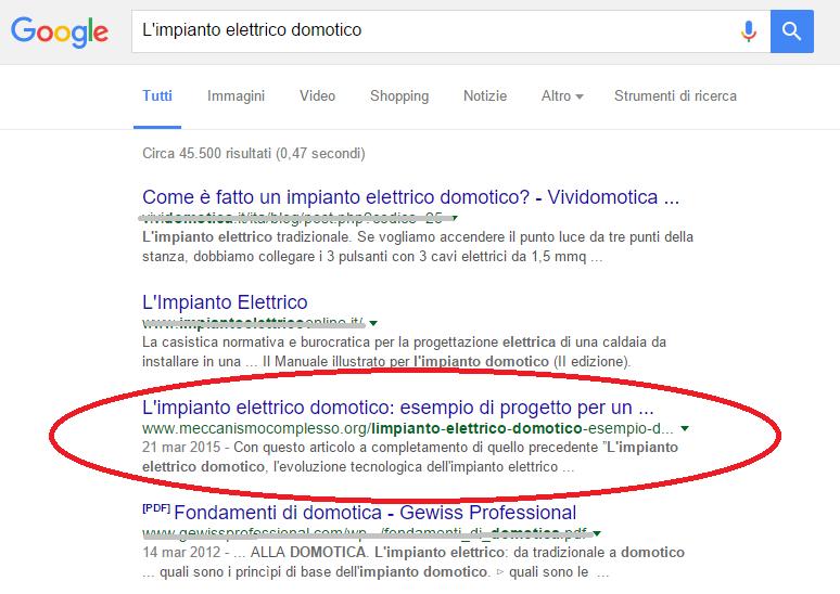 Meccanismo Complesso - Search
