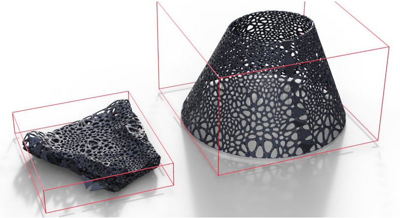 Meccanismo Complesso - stampa 4D kinematics fold simulation