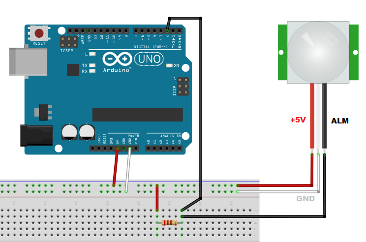 Meccanismo Complesso - PIR arduino sketch Fritzing 01