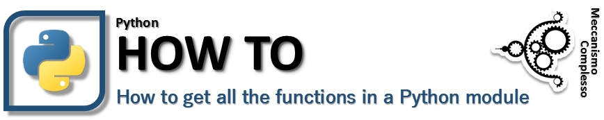 How to get all the functions in a Python Module