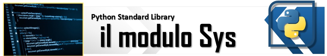 The Python Standard Library - il modulo sys