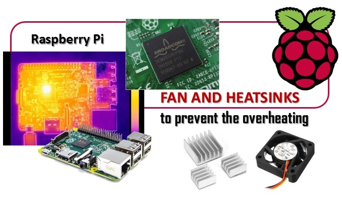 Raspberry Pi 3 - Fan and heatsinks to prevent the overheating