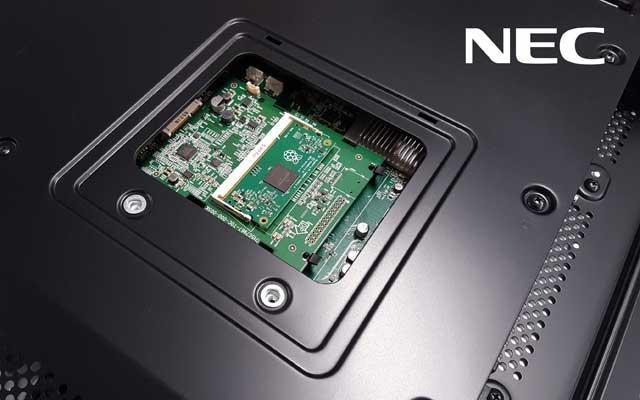 Raspberry Pi compute module 3 su NEC display