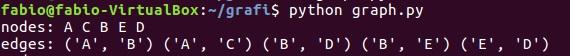 Python e graphs - console output 03