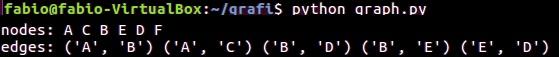 Python e graphs - console output 04