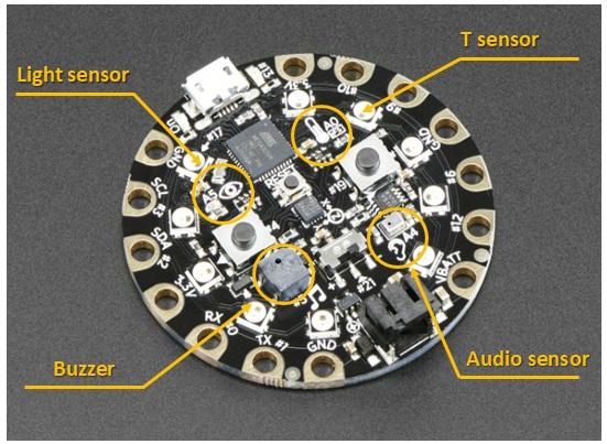 dafruit circuit playground - sensors