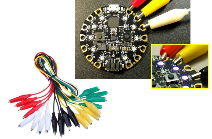 circuit playground alligator connection pinout