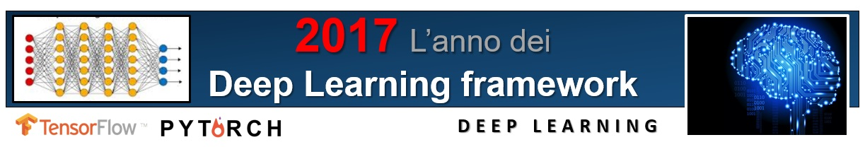 2017 anno dei framework per il deep learning