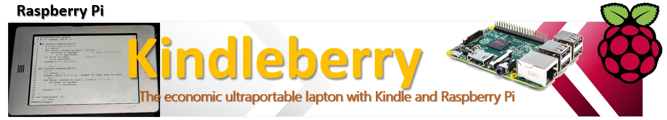 Kindleberry - the ultraportable economic laptop with kindle and raspberry pi