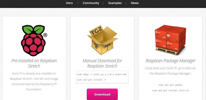 SonicPi.net sito per il download del programma
