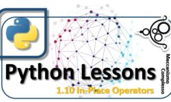 Python Lessons - 1.10 In-place operators m