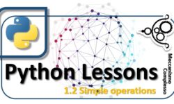 Python Lessons - 1.2 Simple operations m