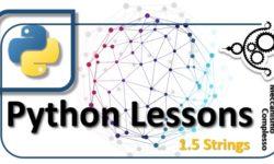 Python Lessons - 1.5 Strings