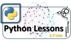 Python Lessons - 2.7 Lists m