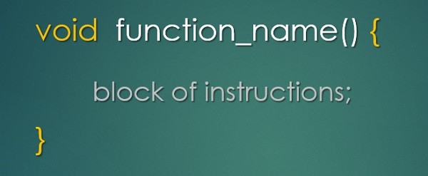 Learn how to program in C with Arduino - function as block of instructions