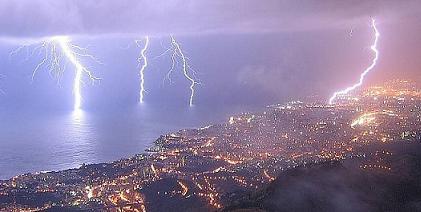 Fulmini su Genova