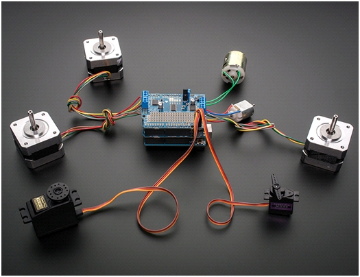 Motor Control with Arduino and the Adafruit Motorshield v2 board