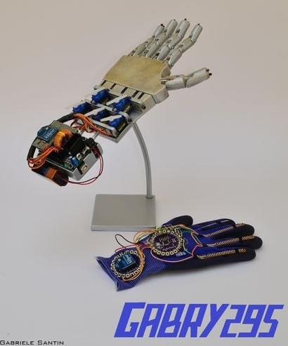 Lilypad Wireless controlled hand