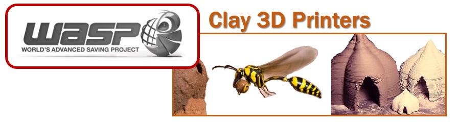 WASP - Clay 3D printers - banner