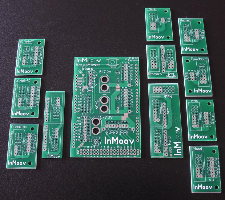 Meccanismo Complesso - InMoov Nerve boards
