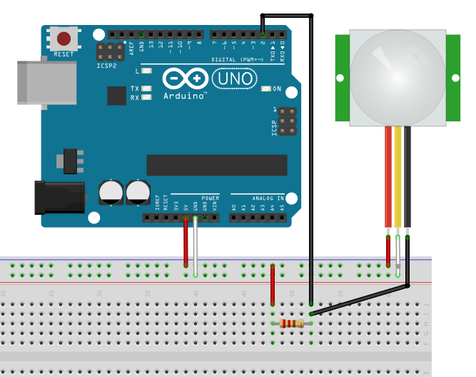 PIR motion detector - a sensor for Arduino and Raspberry Pi