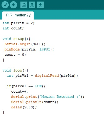 Meccanismo Complesso - Pir e Arduino code 01