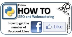 Python SEO - How to get the number of Facebook Likes