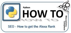Python - SEO - how to get the Alexa Rank m