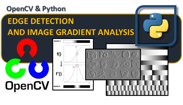 opencv & python - edge detection and image gradient analysis m