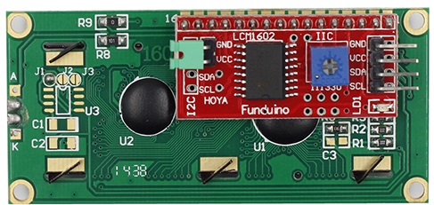 LCD1602 - Using a liquid crystal display LCD with Arduino via I2C