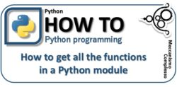 How to get all the functions in a Python module m