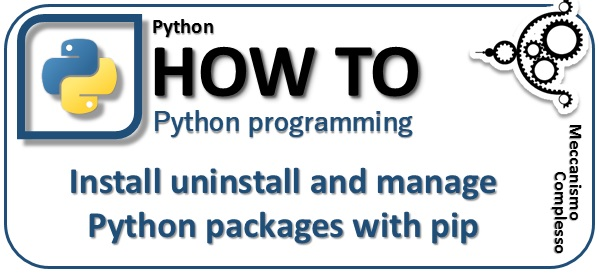 Install uninstall and manage python packages with pip m
