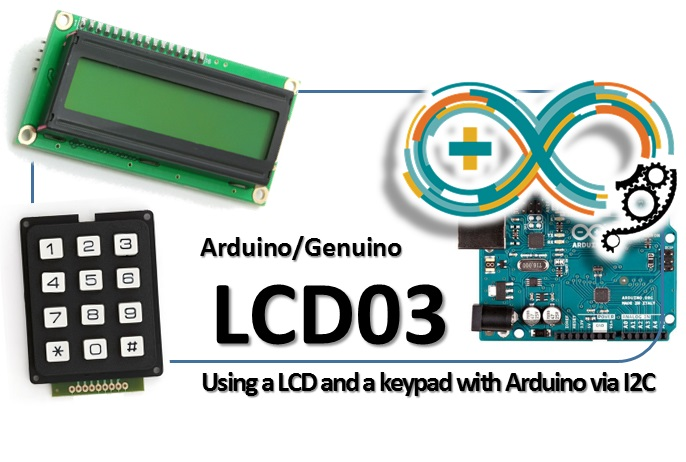 LCD03 liquid crystal display LCD and a keypad on Arduino on I2C