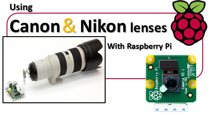 Using Canon and Nikon lenses with Raspberry Pi