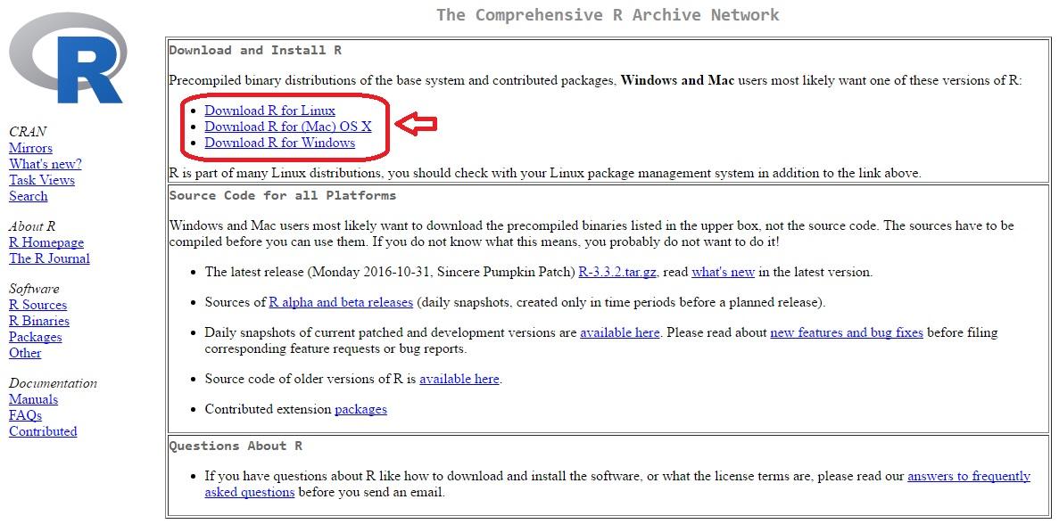 CRAN - The Comprehensive R Archive Network