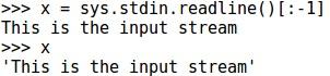 module sys - data stream stdin stdout stderr