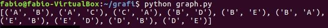 Python e graphs - console output 01