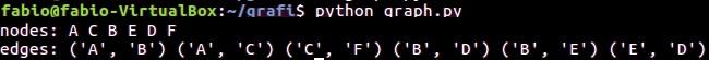 Python e graphs - console output 05