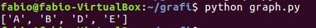 Python e graphs - console output 06
