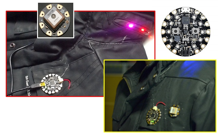 adafruit circuit playground - GPS Jacket