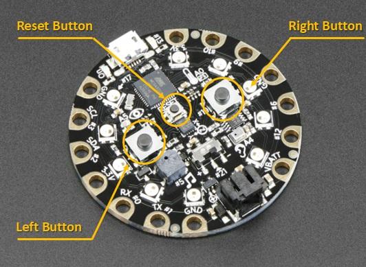adafruit circuit playground - buttons