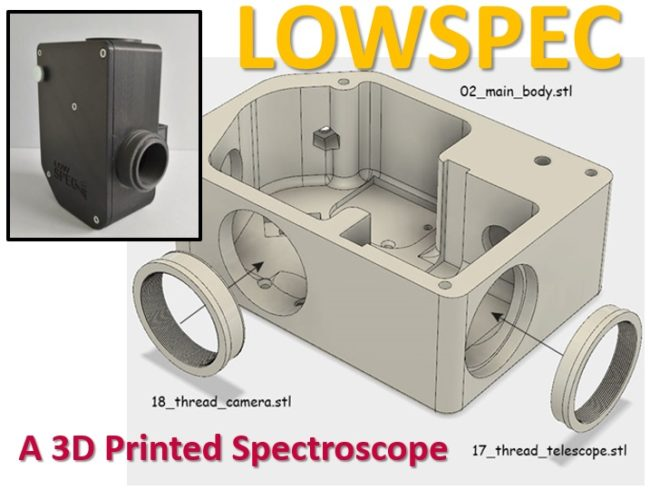 LOWSCOPE - a 3D printed spectroscope m