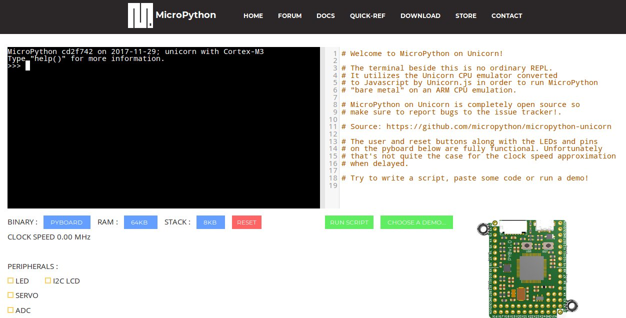 MicroPython - Python for programming microcontrollers