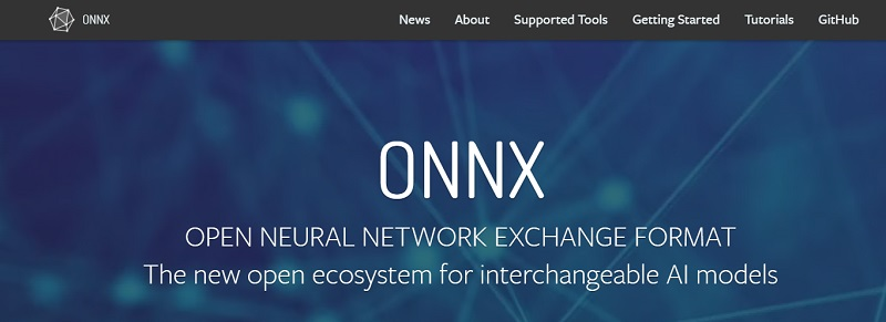 ONNX open neural network exchange format