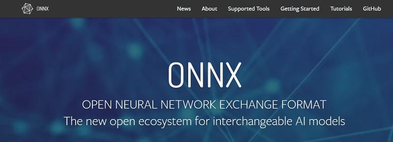 ONNX open neural network exchange format
