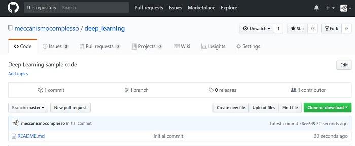 How to - come abilitare una web page su un repository di GitHub 01